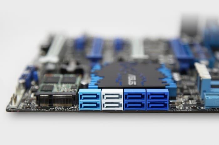 Six speedy SATA 6Gbs ports