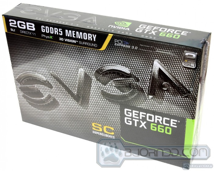 EVGA GTX 660 SC (SuperClocked) 2GB Front Box