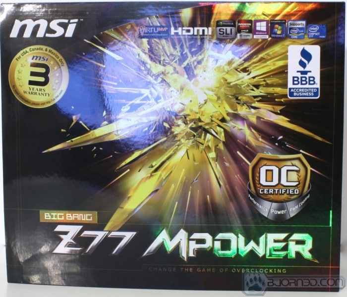 MSI Big Bang Z77 Mpower