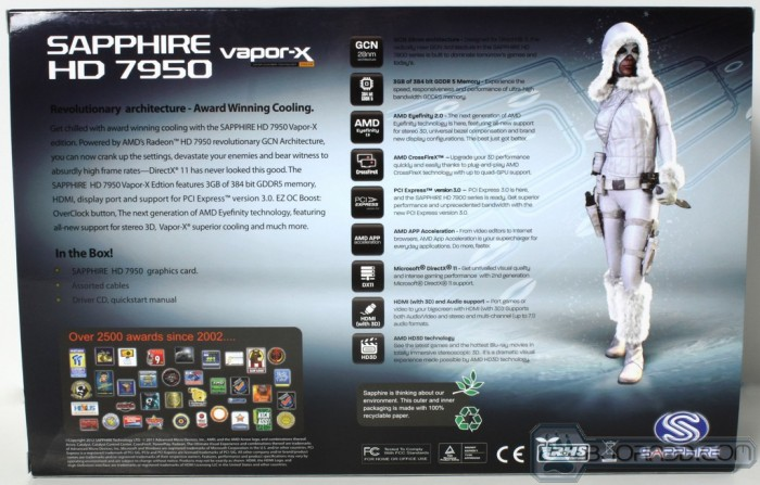 HD 7950 Vapor-X - Box Back