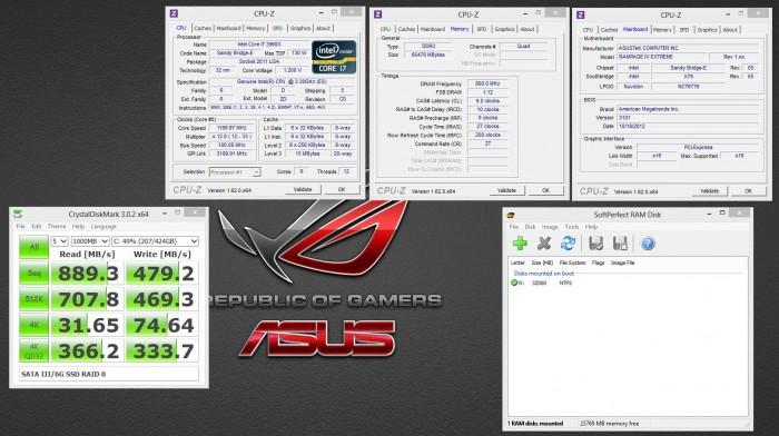 SSD RAID Crysytaldiskmark