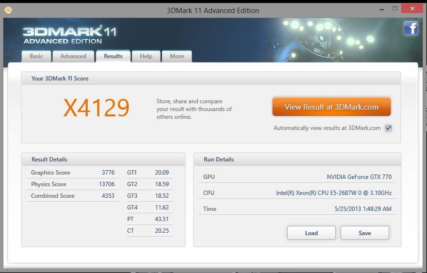3DMark 11 X 770 Ref OC mem and GPU
