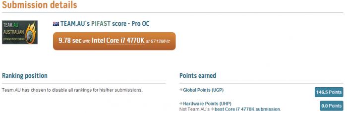 PR ASUS ROG Maximus VI Extreme PiFast world record