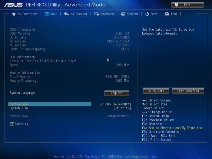 ASUS Z87-A BIOS2