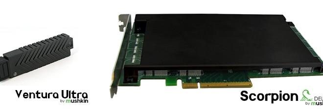 Mushkin Unveils Scorpion Deluxe PCIe SSD and Ventura Ultra USB 3.0 Flash Drive
