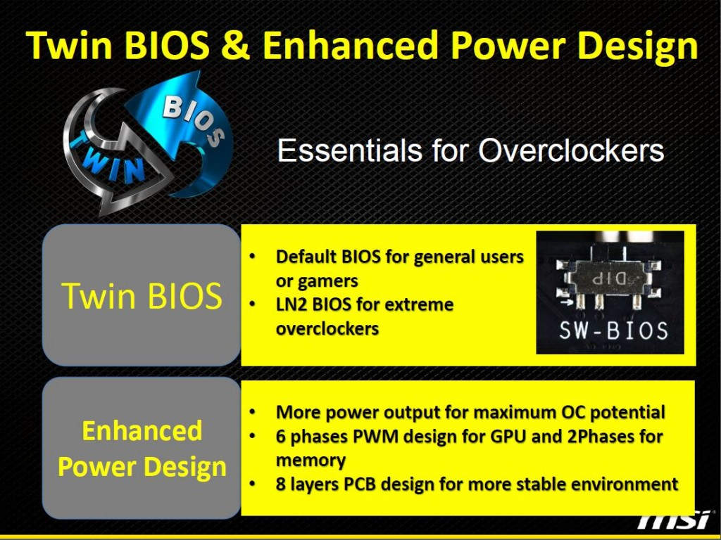 twin BIOS and Power Design