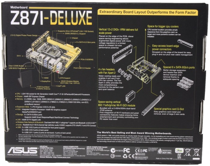 ASUS Z87I-Deluxe2