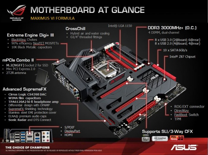 motherboard at a glance