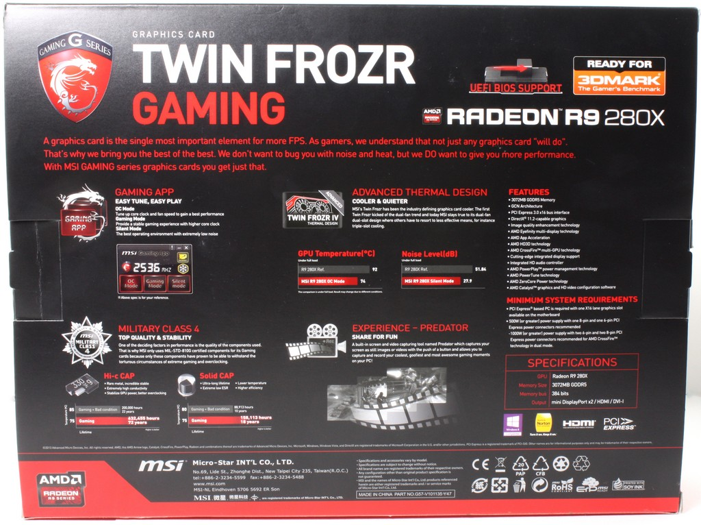 MSI Radeon R9-280X 3GB Graphics Card - Page 2 of 5 - Bjorn3D com