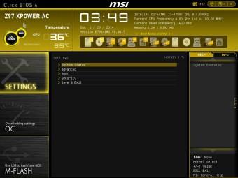 MSI Z97 XPOWER BIOS 2