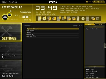 MSI Z97 XPOWER BIOS 2