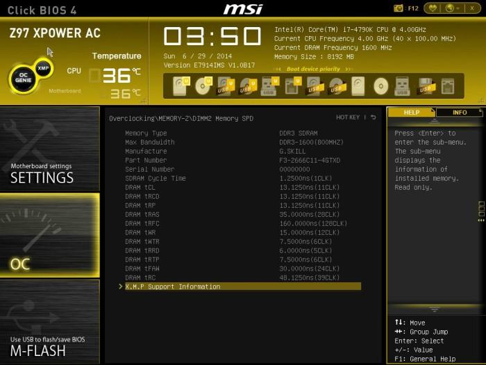 MSI Z97 XPOWER BIOS 8
