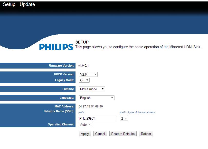 Philips Brilliance 239C4QHWAB Miracast-enabled monitor