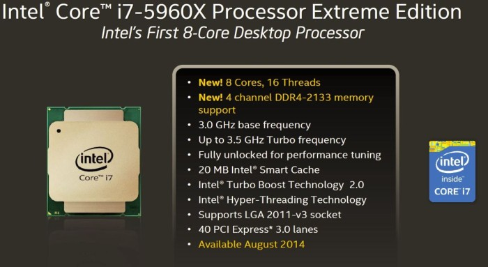 first 8 core