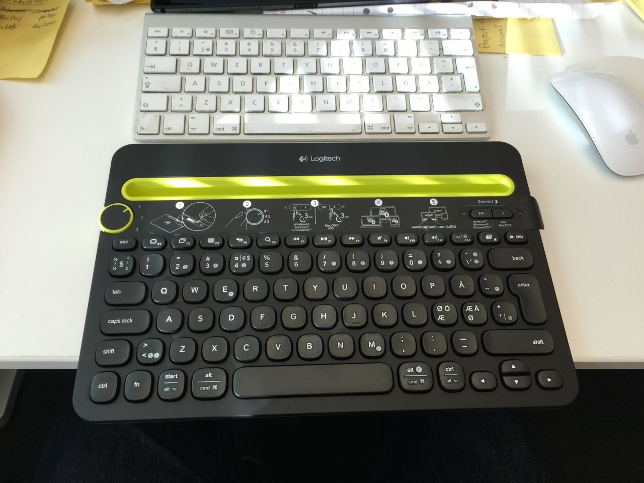 Logitech K480 Bluetooth Multi Device Keyboard We Are Actually Wondering If Has Given It Some Extra Weight To Make Sure Wont Tip With A Big Tablet Standing In