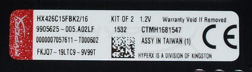 Kingston HyperX Fury 16GB DDR4 2666MHz (15 17 17) Dual