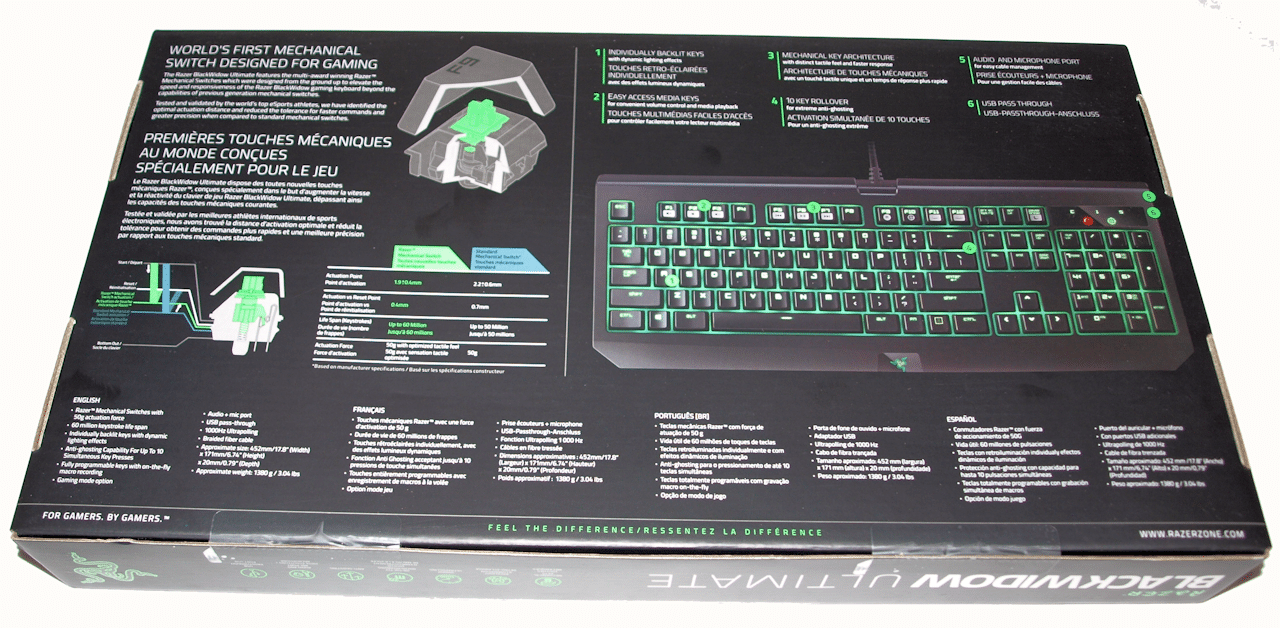 Razer BlackWidow Ultimate 2016 review — One Color, Many Advantages