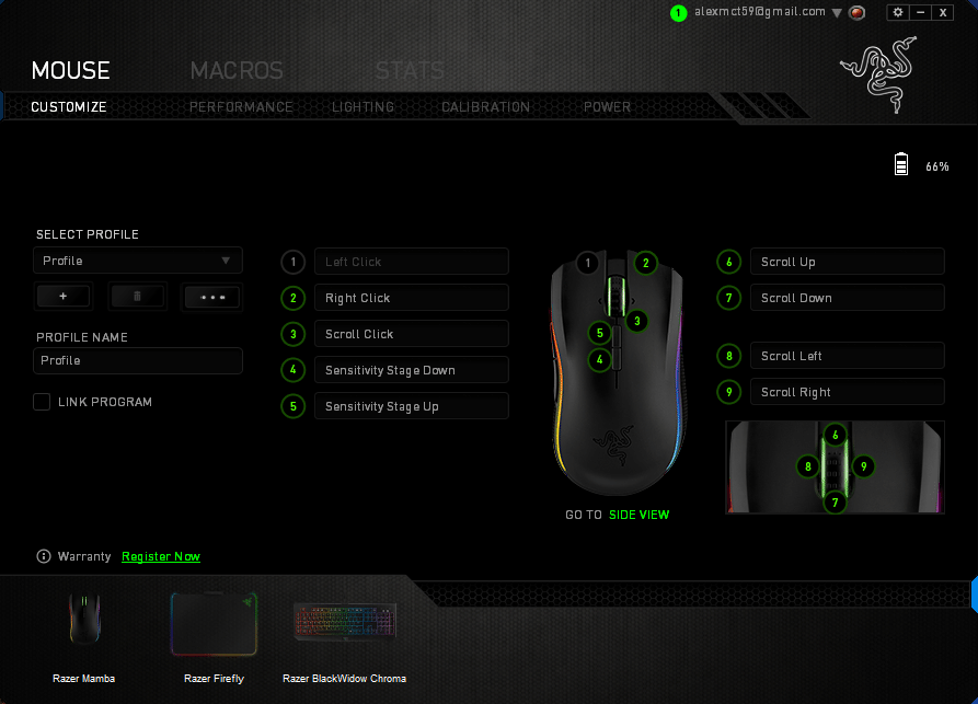 razer naga how to change sensitivity