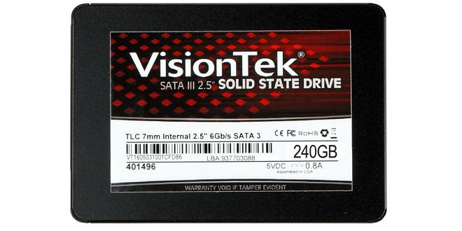 VisionTek 240GB TLC 7mm SATA III Internal 2 5
