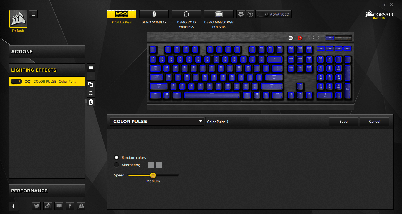 Corsair Gaming K70 LUX RGB Mechanical Keyboard Cherry MX RGB