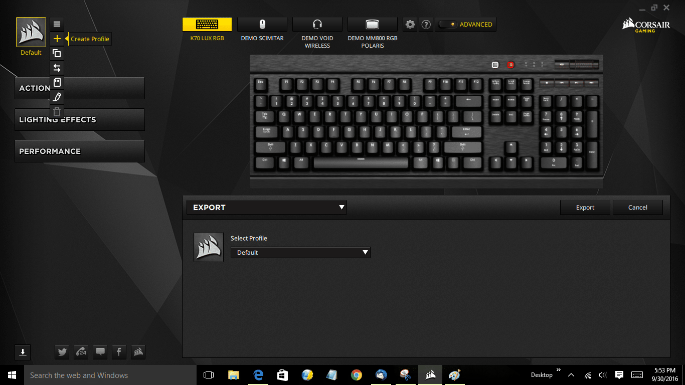 Corsair Gaming K70 LUX RGB Mechanical Keyboard Cherry MX RGB - Page