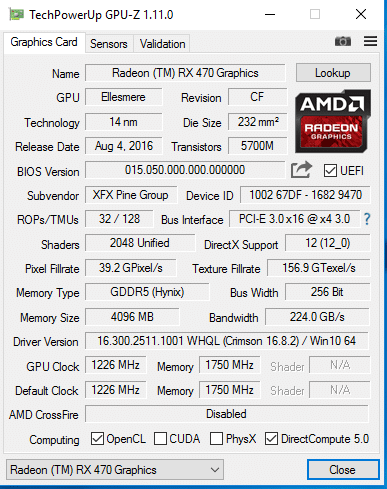 XFX Radeon RX 470 RS 4GB Hard Swap Triple X Review - Page 7 of 8