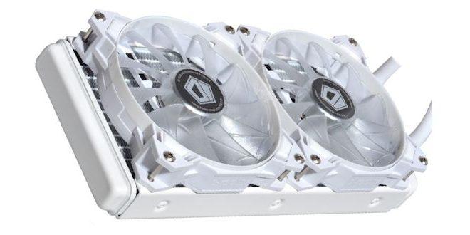 ID-COOLING ICEKIMO 240W 4Pin Pure White Water Cooler LED Lighting CPU Radiator