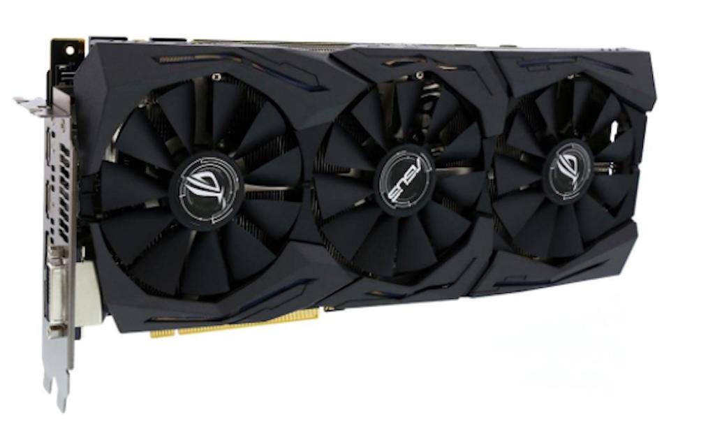 Asus ROG Strix GeForce GTX 1080 OC Edition 8GB 11Gbps Video
